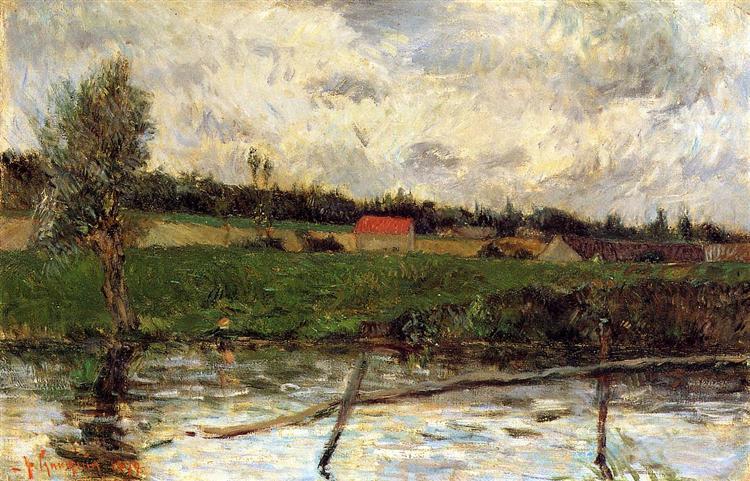 Riverside (Breton landscape), 1879 - Paul Gauguin