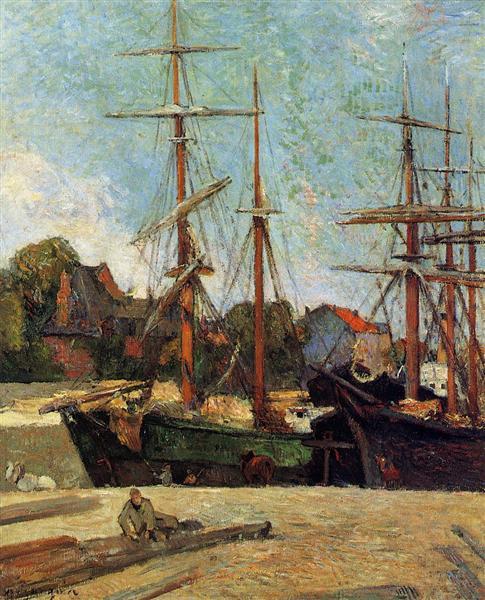 Schooner and three masters, 1886 - Paul Gauguin