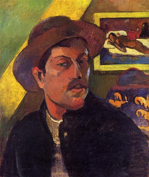 Автопортрет в капелюсі, c.1893 - Поль Ґоґен