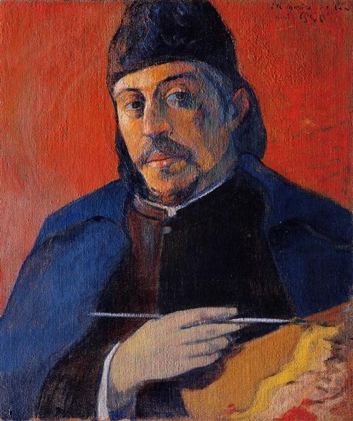 Self portrait with palette, 1894 - Paul Gauguin