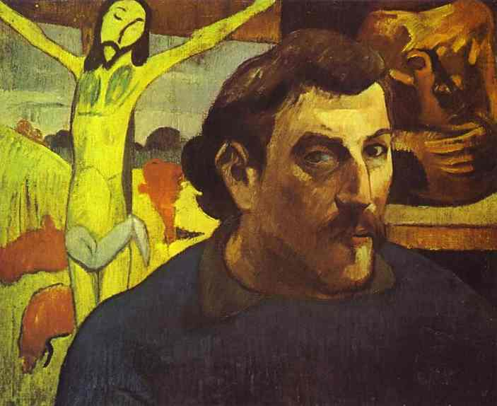 Self Portrait with the Yellow Christ, 1890 - Paul Gauguin