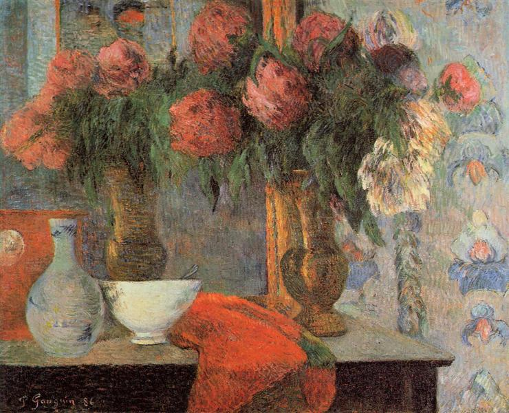 Still life with white bowl, 1886 - Paul Gauguin