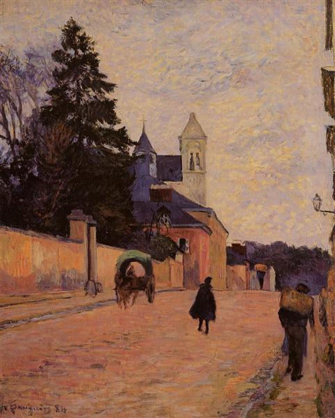 Street in Rouen, 1884 - Paul Gauguin