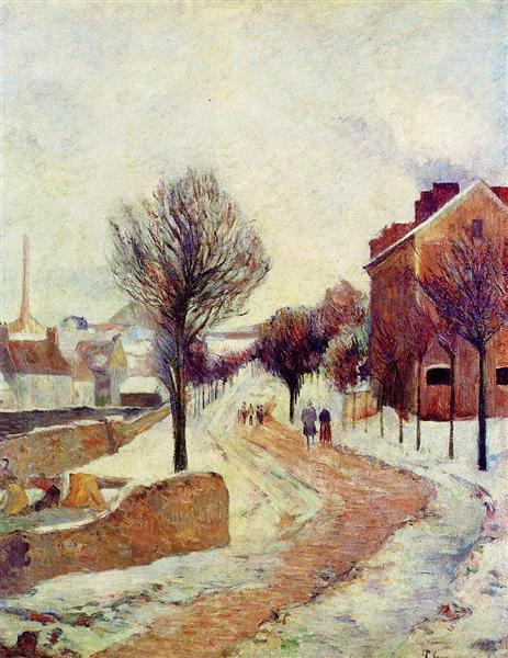 Suburb under snow, 1886 - Paul Gauguin