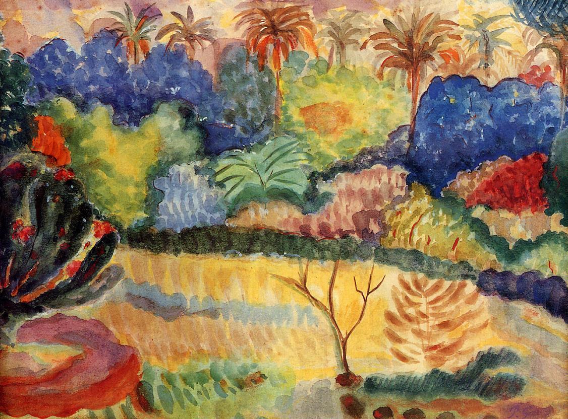 Tahitian landscape, 1897 - Paul Gauguin - WikiArt.org