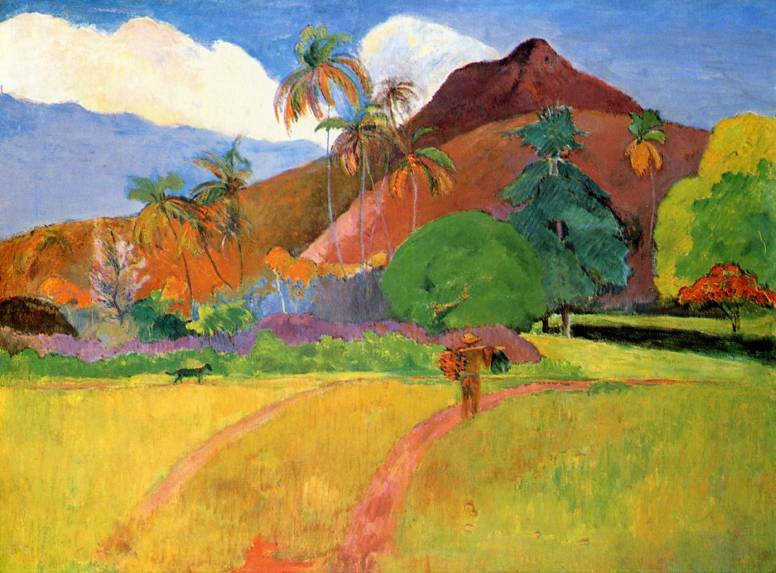 Tahitian mountains - Paul Gauguin - WikiArt.org ...