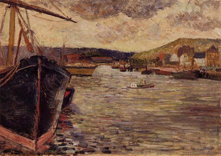 The Port Of Rouen, 1884 - Paul Gauguin