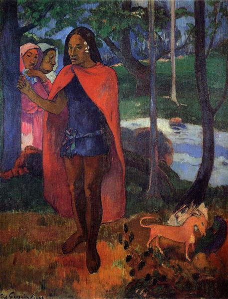 The Sorcerer of Hiva Oa (Marquesan Man in the Red Cape), 1902 - Paul Gauguin