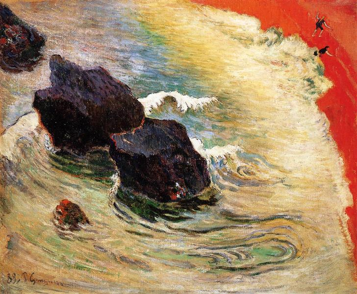 The wave, 1888 - Paul Gauguin