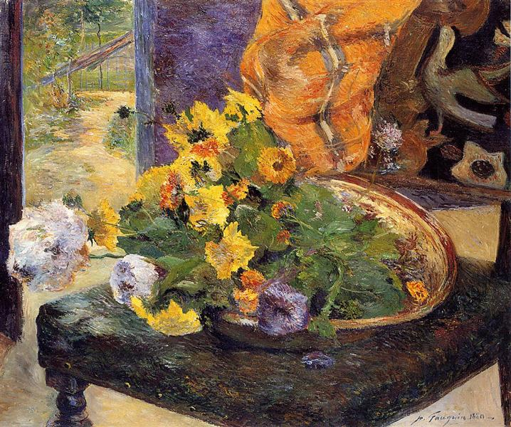 To Make a Bouquet, 1880 - Paul Gauguin
