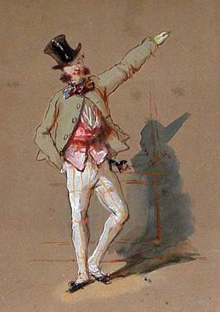 Dandy in Paris - Paul Gavarni