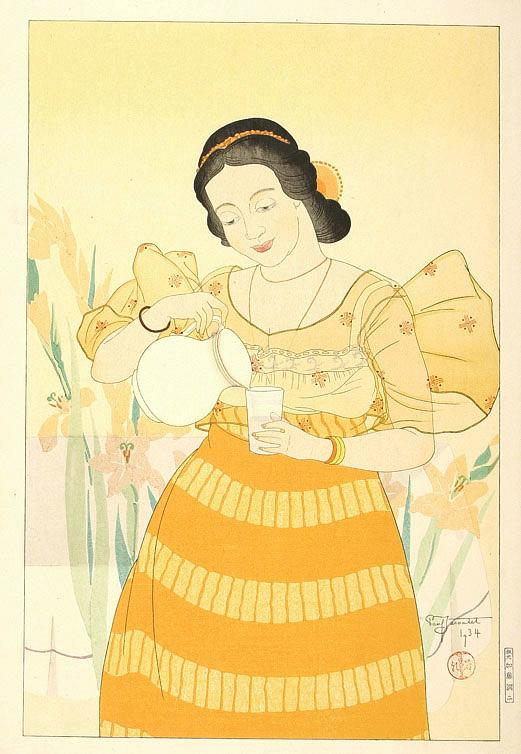 Portrait of a Chamorro Woman - Orange, 1934