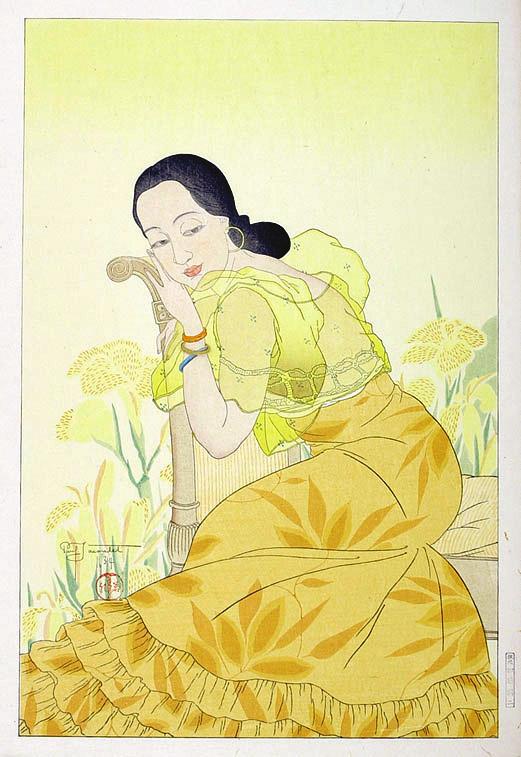 Portrait of a Chamorro Woman - Yellow, 1934