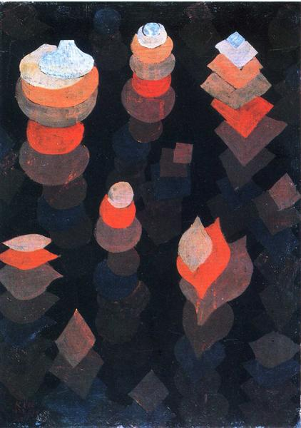 Growth of the night plants, 1922 - Paul Klee