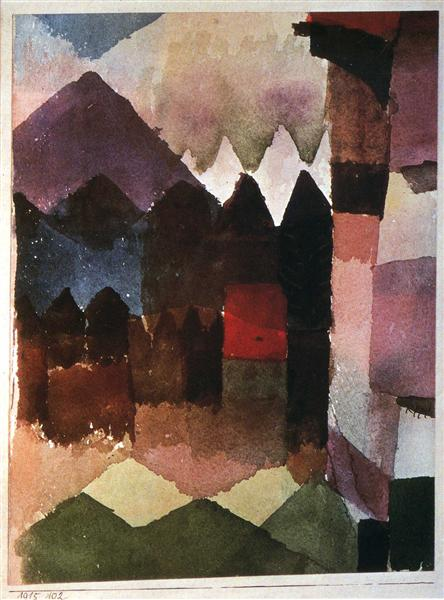 Foehn Wind in Marc's Garden, 1915 - Paul Klee
