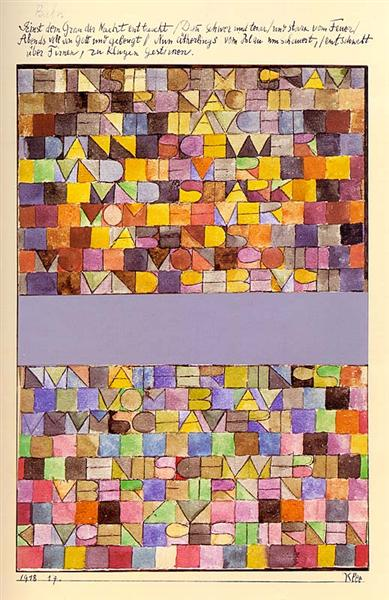 Once Emerged from the Gray of Night, 1918 - Paul Klee