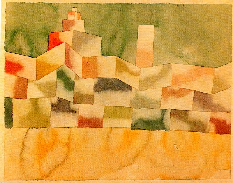 Oriental architecture 1929 paul klee for Architecture orientale