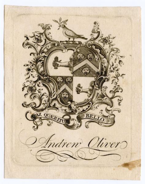 Andrew Oliver Bookplate - Paul Revere