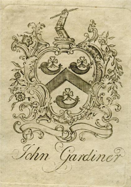 John Gardiner Bookplate - Paul Revere