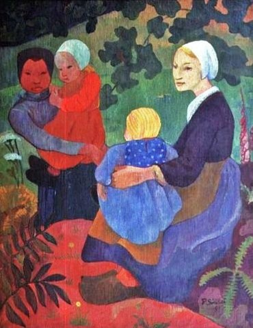 The Young Mothers, 1891 - Поль Серюзье