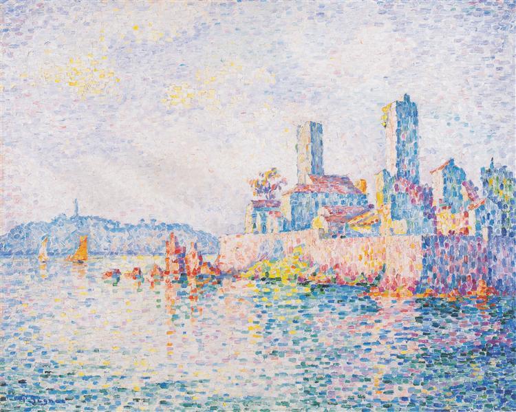 Antibes, the towers, 1911 - Paul Signac