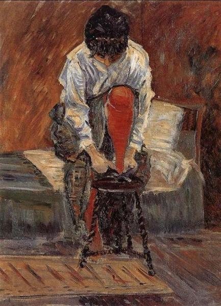 Red silk stockings, 1935 - Paul Signac