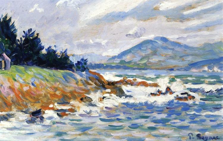 Saint Tropez, gale from east, 1895 - Paul Signac