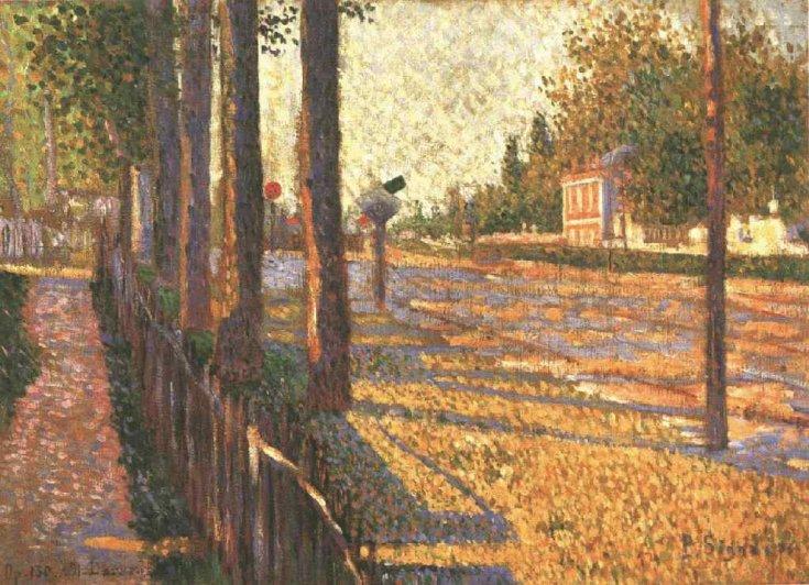 The Railway at Bois Colombes, 1886 - Paul Signac