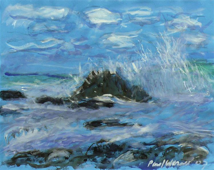 Seascape at the coast of Normandy, near Petit Dalles, France, 2007 - Paul Werner