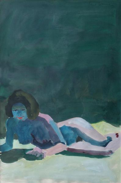 Model On The Floor, 1964 - Paul Wonner
