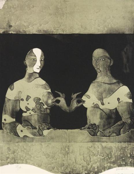 Bosomfriends I, 1965 - Paul Wunderlich