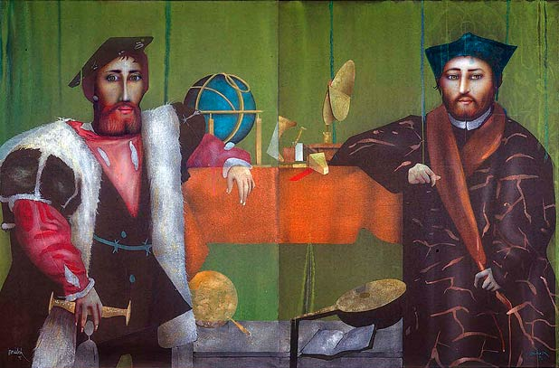 The Ambassadors (after Holbein) - Paul Wunderlich