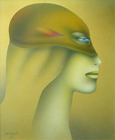 Woman With Mask, 1985 - Paul Wunderlich