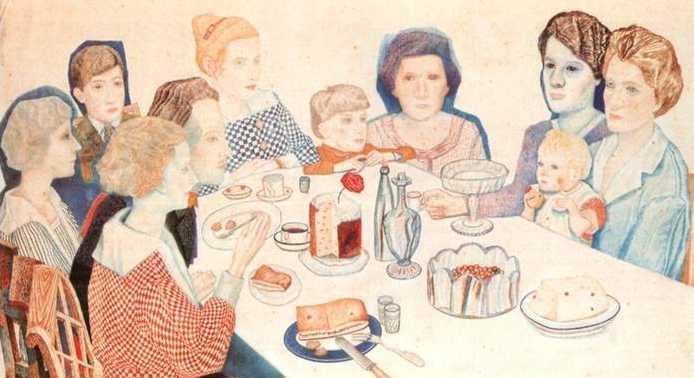 A Family Portrait, 1924 - Pavel Filonov