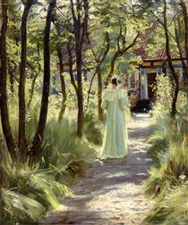 Marie in the Garden - Peder Severin Krøyer
