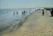 Summer Day on Skagen's Southern Beach - Peder Severin Krøyer