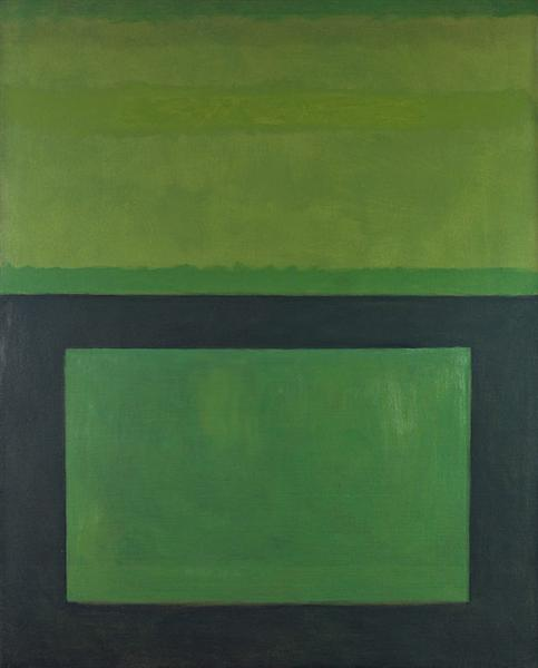"""Cool"" Series (Black over Green), 1963 - Perle Fine"