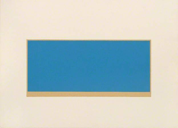 Drawing (Untitled, Blue/Green), 1971 - Peter Joseph