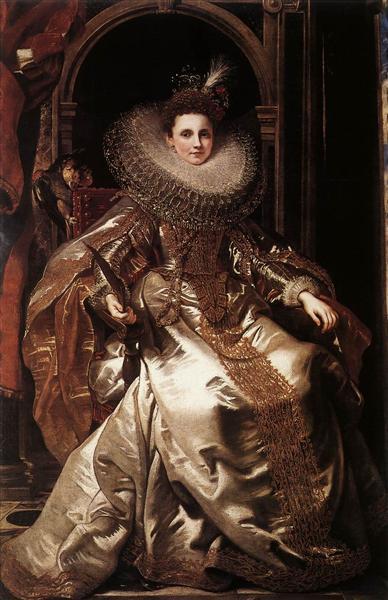 Portrait of Maria Serra Pallavicino, 1606 - Peter Paul Rubens
