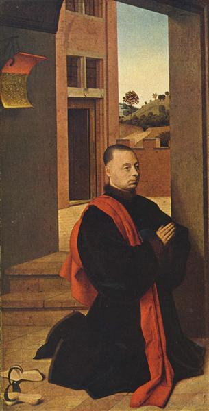 Kneeling male donor, c.1455 - Petrus Christus
