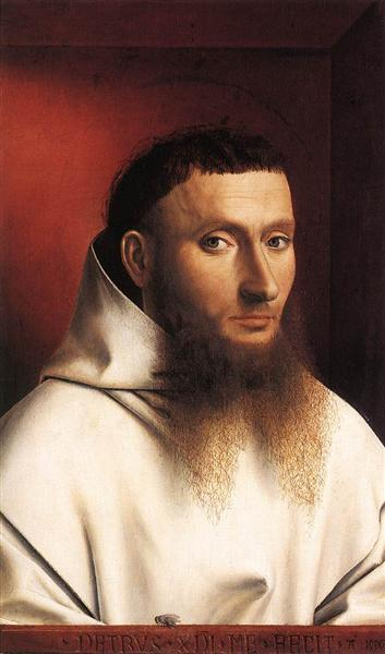 Портрет картузианца, 1446 - Петрус Кристус