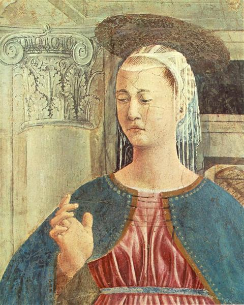 Annunciation (detail), 1452 - 1458 - Piero della Francesca