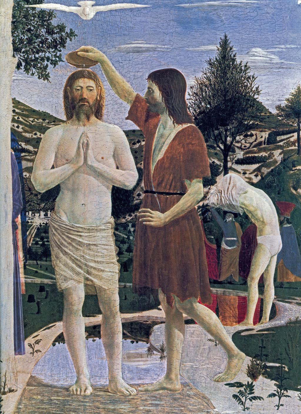 baptism of christ detail 1450 piero della francesca wikiart org
