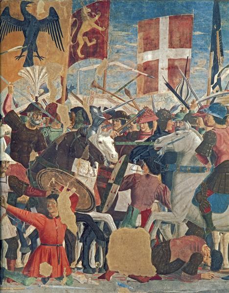 Battle between Heraclius and Chosroes (detail), 1452 - 1466 - Piero della Francesca