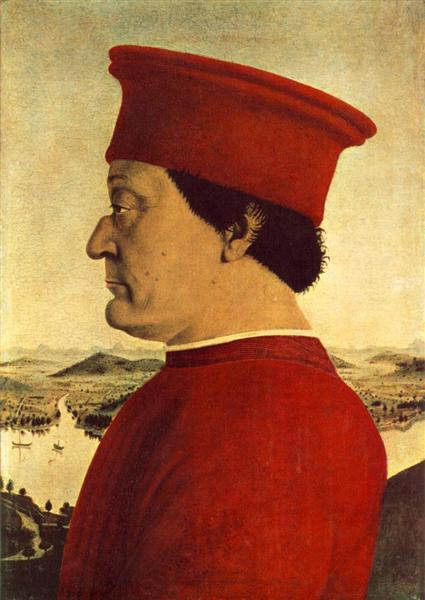 Federigo da Montefeltro, 1465 - Piero della Francesca