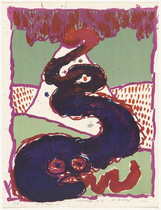 Plate I from the portfolio Vulcanalogies, 1970 - Pierre Alechinsky