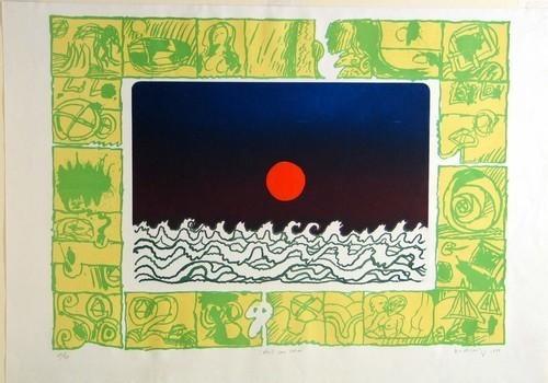 Sun Slit Throat (Soleil cou coupé), 1970 - Pierre Alechinsky