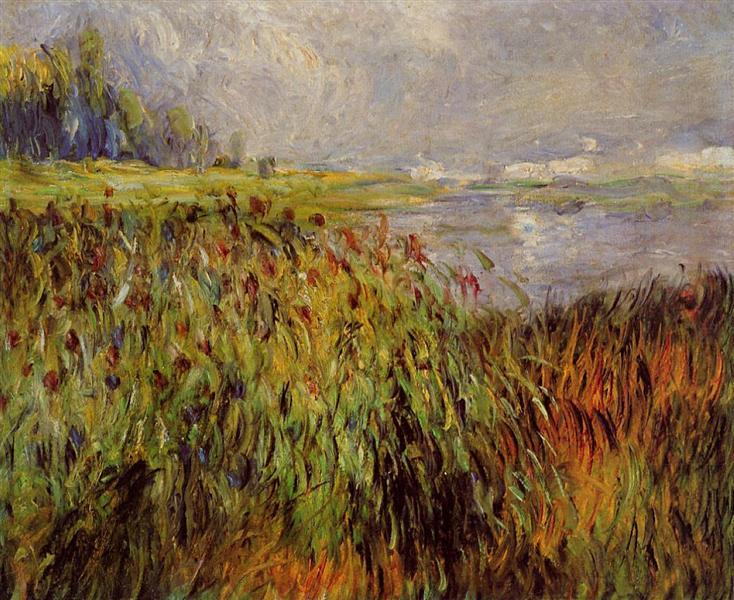 Bulrushes on the Banks of the Seine, 1874 - Pierre-Auguste Renoir