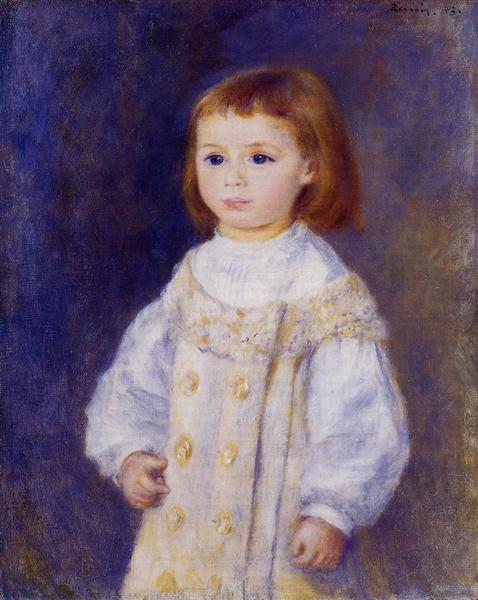 Child in a White Dress (Lucie Berard), 1883 - Auguste Renoir