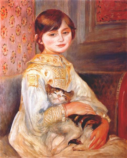 Child with cat (julie manet), 1887 - Pierre-Auguste Renoir